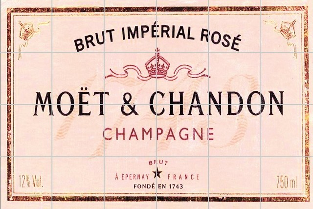 Moét and Chandon Tile Mural