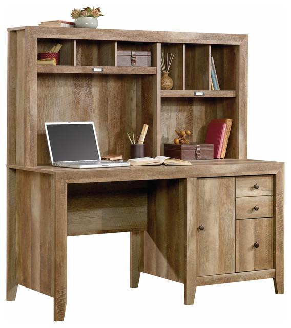 Dakota Pass Computer Desk With Hutch Craftsman Oak