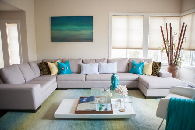 """""""The Bachelor"""" Pad Makeover   Living Room   Encinitas"""