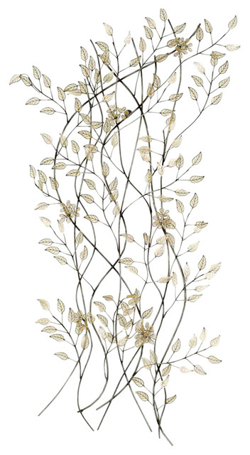 Metal Leaves Wall Decor falling leaves wall decor - contemporary - metal wall art -