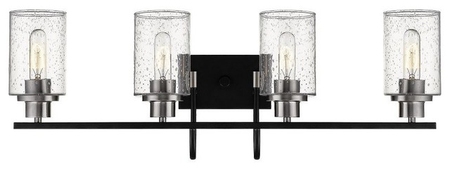 Millennium Lighting 3514 Mb Bn Clifton 4 Light Bath Vanity Matte Black