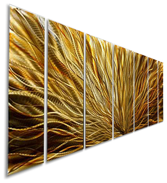 Amber Plumage Metal Wall Art Painting By Jon Allen - Contemporary ...
