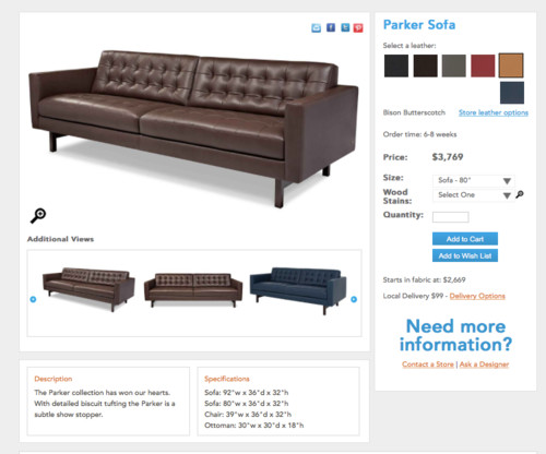 I Also Like This One From Crate And Barrel ($5000), Which I Believe Is A  Lee Sofa But Am Not Sure. Also 8 Way Hand Tied.