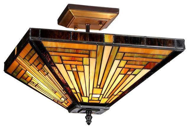 innes 2light mission semiflush ceiling fixture