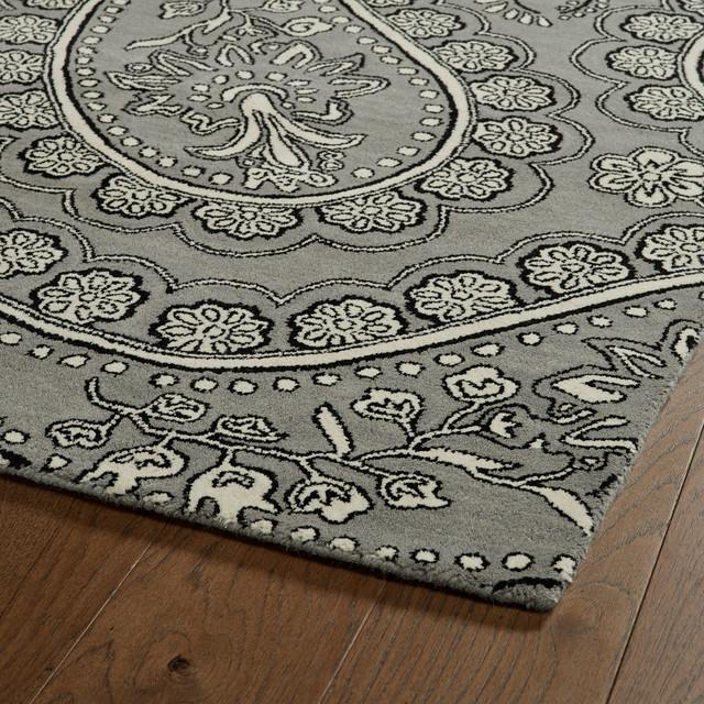 "Kaleen Hand Tufted Melange Gray Wool Rug, 5'x7'9"""