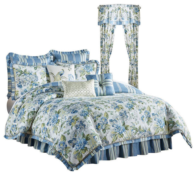 Waverly Floral Engagement 4 Piece Bedding Collection