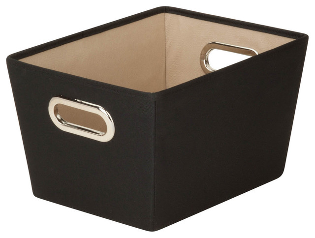 """Honey Can Do 13""""x9.8""""x7.6"""" Small Black Nesting Tote."""
