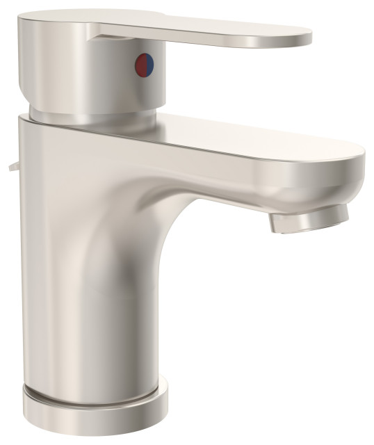Identity Single-Handle Single Hole Faucet With Drain Assembly, 1.0 gpm, Satin Ni
