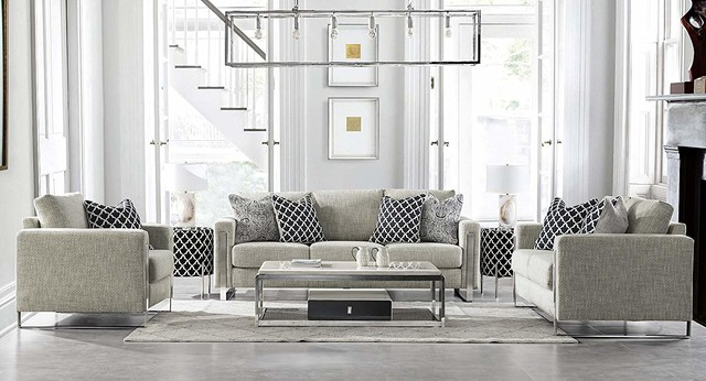 Acanva Contemporary Down Filled Living Room Sofa Couch Loveseat Armchair Contemporary Living
