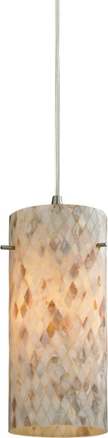 Capri 1 Light Pendant - Satin Nickel.