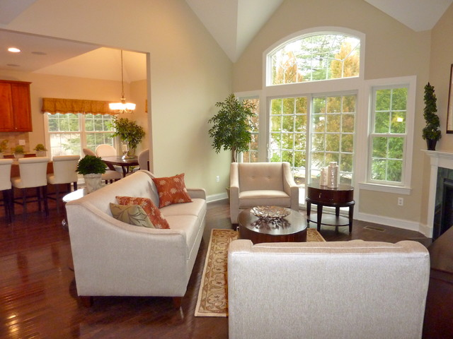 Model Home Living Room, Living Room, Transitional And Mid ...