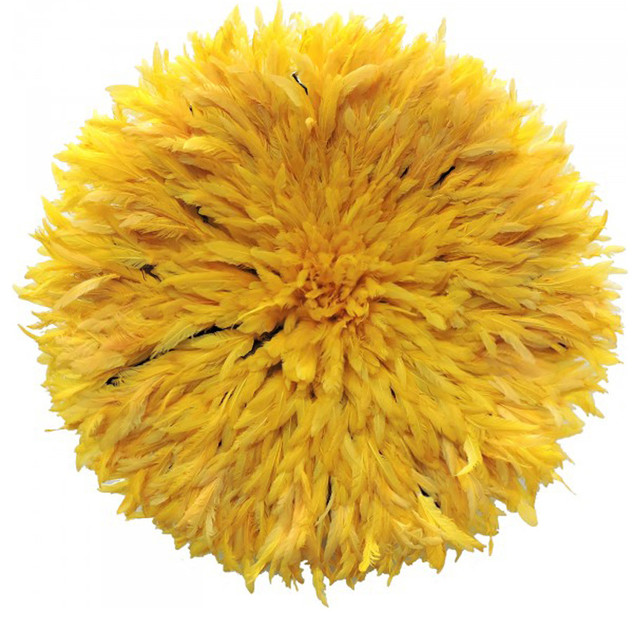 Yellow Juju Hat Decor - Contemporary - Wall Sculptures - by Accent Touch