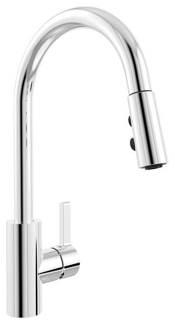 Belanger Kitchen Sink Faucet With Swivel Pull-Down Spout.