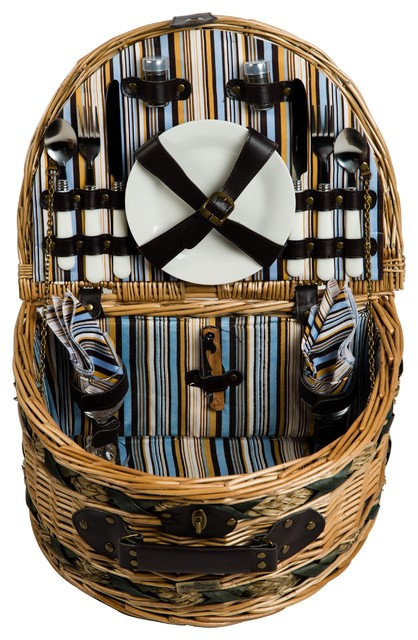 Classic Willow 2-Person Picnic Basket.