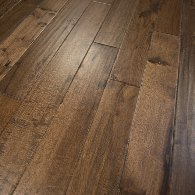 Hickory Hand Scraped Prefinished Solid Wood Flooring Old