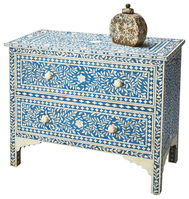 Butler Specialty Bone InlayVivienne Chest - Mediterranean - Accent Chests And Cabinets - by ...
