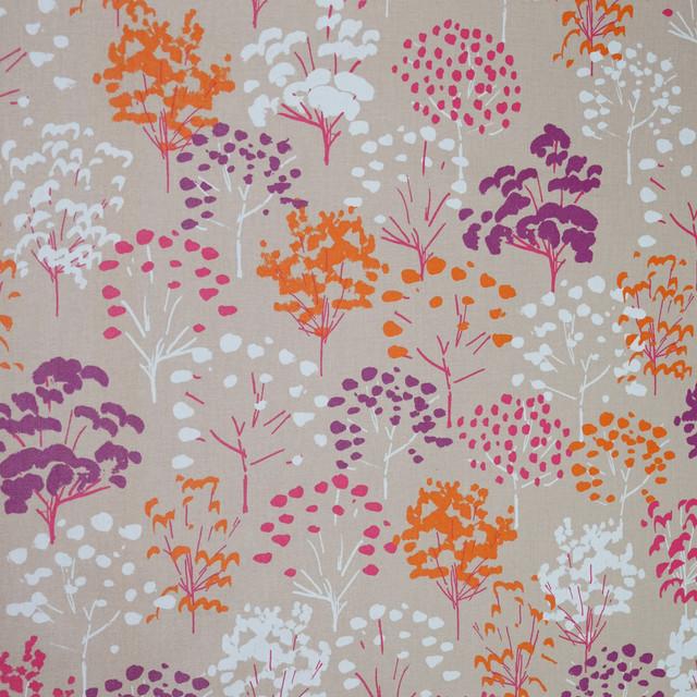 Fuchsia Tree Wipe-Clean Tablecloth, Round, 160x160 cm