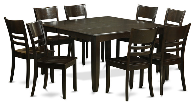 Pfly cap kitchen table set transitional dining sets for Dining room tables houzz