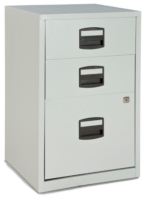 Bisley Three Drawer Steel Home or Office Filing Cabinet - Modern - Filing Cabinets - by Bindertek