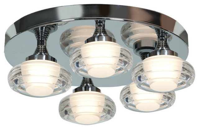 Optix 5-Light Dimmable Led Flush-Mount.