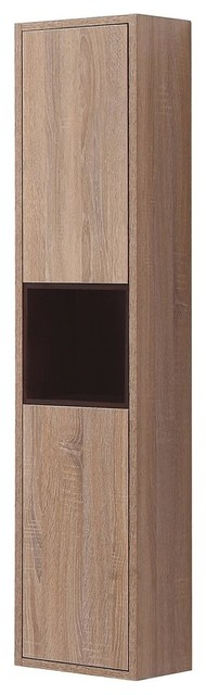 55 In. Wall Cabinet In Restored Khaki Wood Finish.