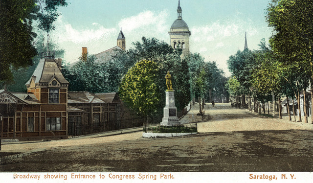 Quot Saratoga Springs Congress Spring Park From Broadway
