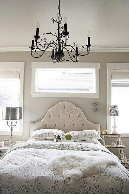 Silver,Grey,White.... traditional bedroom