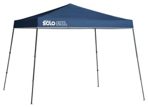 Shelter Logic 11&x27;x11&x27; Quik Solo72 Slant Leg Canopy, Midnight Blue.