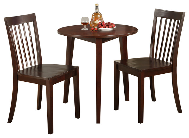 30 round cherry finish wood dining room kitchen table and 2 chairs dining tables by. Black Bedroom Furniture Sets. Home Design Ideas