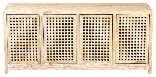 Global Views Driftwood Lattice Credenza  sc 1 st  Houzz & Global Views Driftwood Lattice Credenza - Farmhouse - Buffets And ...