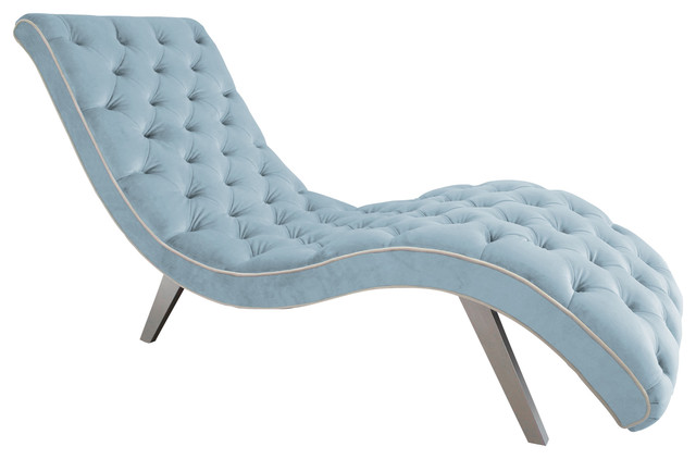 Decenni custom furniture decenni tobias velvet tufted for Ave six curves velvet chaise lounge