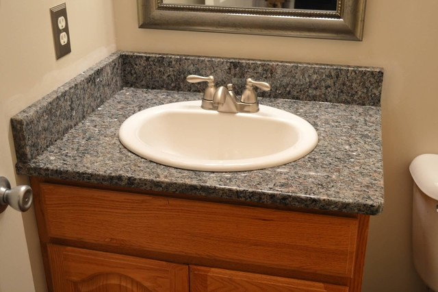 Quartz Top Drop In Sink Medina Exteriors Remodeling