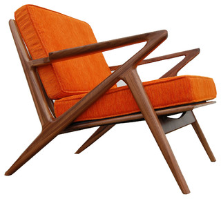 Williamsburg Walnut Z Chair   Midcentury   Armchairs And Accent Chairs   By  Bowery U0026 Grand
