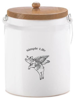 flying pig large canister contemporary kitchen