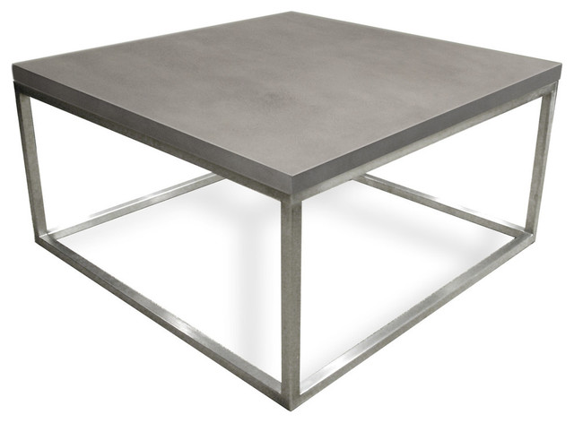 Cube concrete coffee table modern coffee tables by for 36x36 coffee table