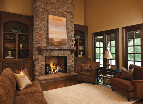 Unique Like The Bookcases On Either Side Of The Fireplace With Windows Above