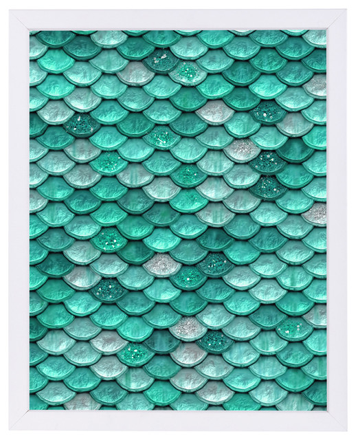 Aqua Glitter Mermaid Scales, 9