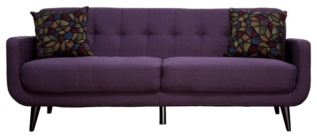 European Mod Living Room Sofa, Twilight Lavender