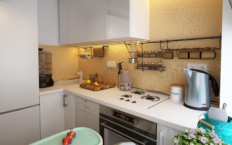Маленькая кухня - визуализации