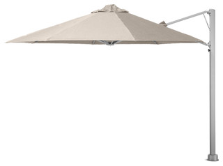 """11'6"""" Oct Umbrella, Surface Plate and LED Lights, Arctic White"""