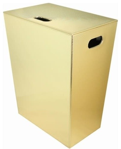 Ws Bath Collections Ecopelle 2263 Ecopelle Leather Laundry Basket.