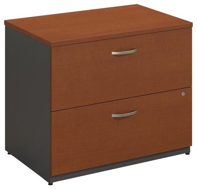 "Bush BBF Series C 36"" 2-Drawer Lateral File, Mocha Cherry - Contemporary - Filing Cabinets - by ..."