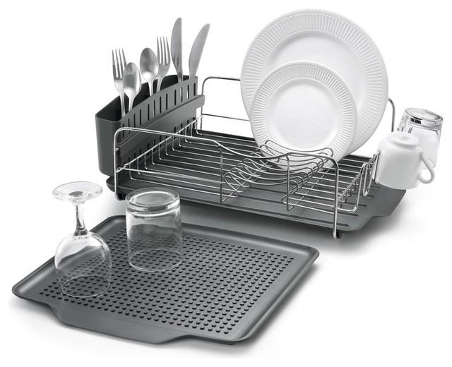 4 Piece Advantage Dish Rack  sc 1 st  Houzz & 4 Piece Advantage Dish Rack - Contemporary - Dish Racks - by Polder