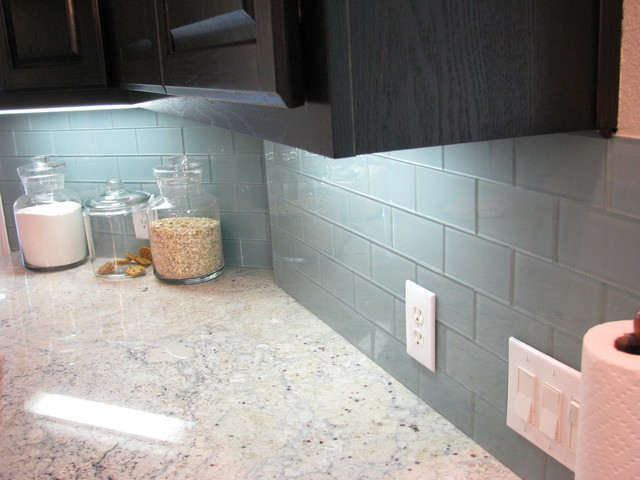 glass tile backsplashes by subwaytileoutlet modern - Subway Glass Tiles For Kitchen