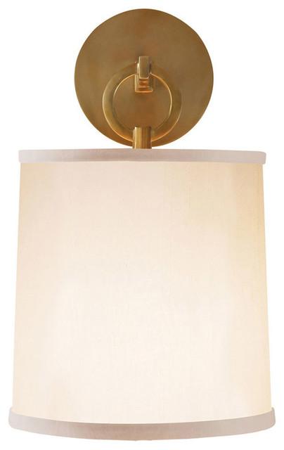 Barbara Barry French Cuff 1-Light Wall Light, Soft Brass