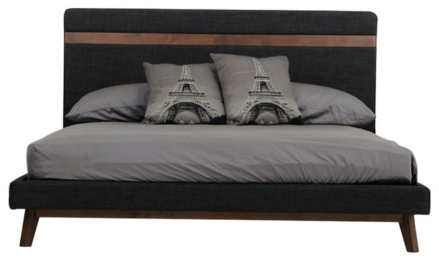 Brady Modern Charcoal Bed, Eastern King.