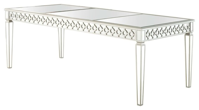 Sophie Silver Mirrored Dining Room Table