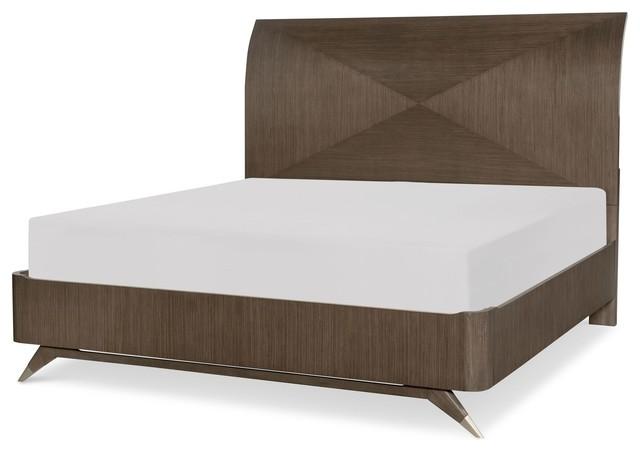 Rachael Ray Home Soho Panel Bed, Brown, California King.