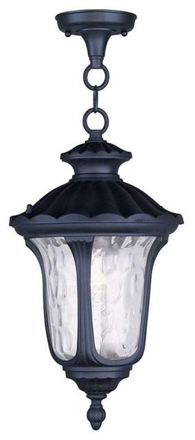 Livex Lighting 1-Light Black Chain Lantern.