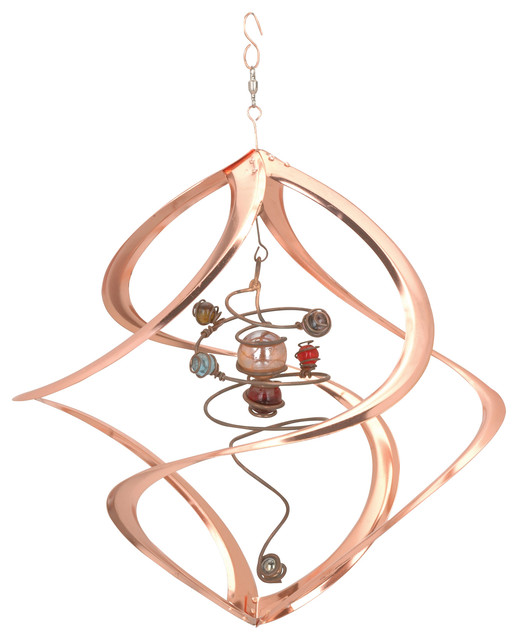17 Quot Cosmix Copper Spiral Planets Wind Spinner